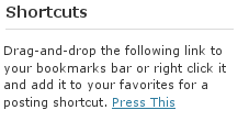 Wordpress 2.6 - Press This!