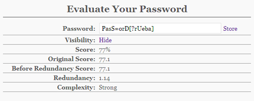 Yet Another Password Meter