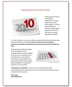 E-book: Predicciones para los Social Media en 2010