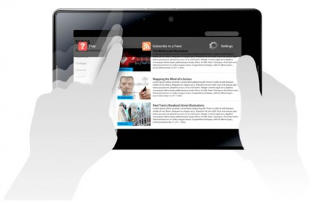Menú Contextual de BlackBerry PlayBook