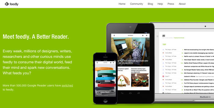 Feedly, un versátil lector de feeds y una alternativa a Google Reader