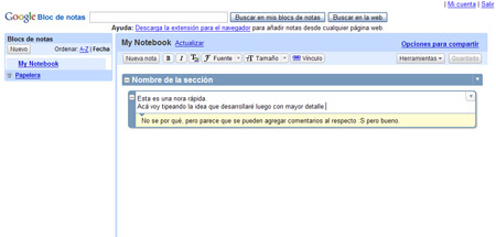 Google Notebook: notas en la red desde cualquier lugar